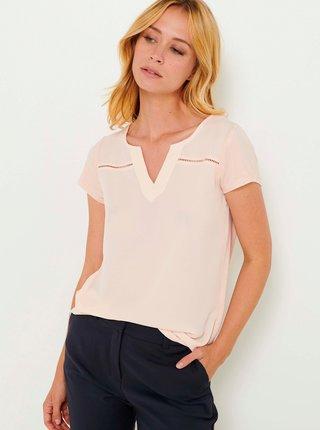 Světle růžové tričko CAMAIEU