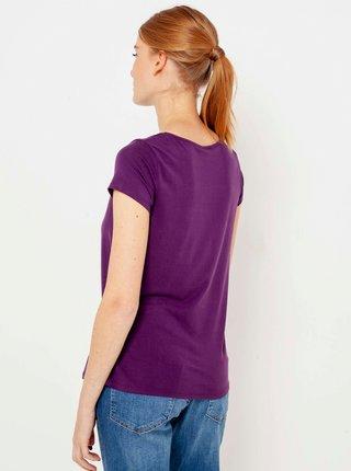Fialové tričko CAMAIEU