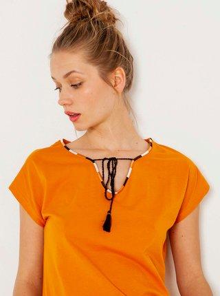 Oranžové tričko CAMAIEU