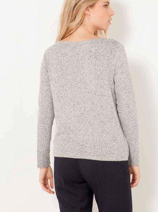 Šedý žíhaný ľahký sveter CAMAIEU