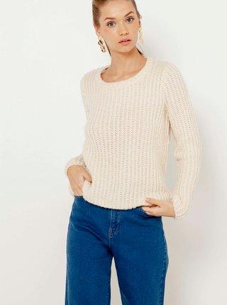 Krémový ľahký sveter CAMAIEU