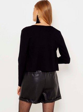 Černé krátké sako s ozdobnými detaily CAMAIEU