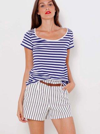 Modro-biele pruhované tričko CAMAIEU