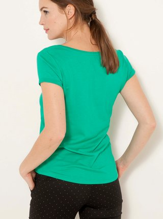 Zelené basic tričko CAMAIEU