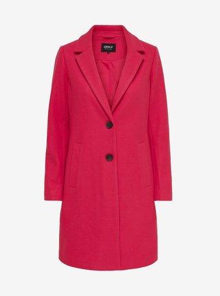 Tmavoružový kabát ONLY Carmen
