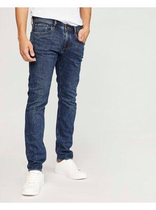 Slim fit pre mužov Armani Exchange - modrá