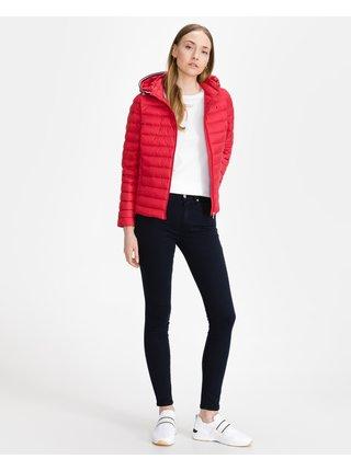 Zimné bundy pre ženy Tommy Hilfiger - červená
