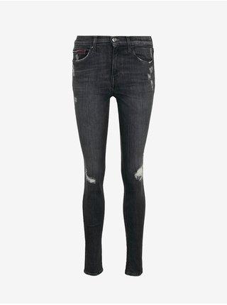 Skinny fit pre ženy Tommy Jeans - sivá