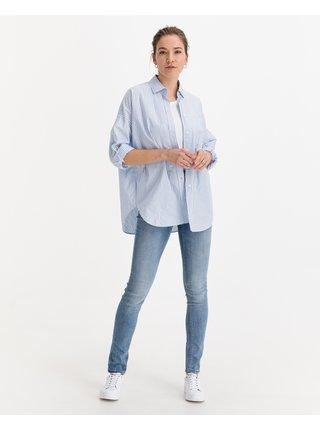 Slim fit pre ženy ICHI - modrá