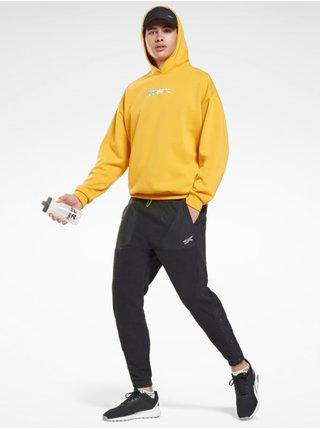 Mikiny s kapucou pre mužov Reebok - žltá