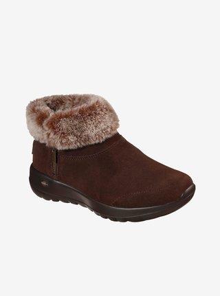 Zimná obuv pre ženy Skechers - tmavohnedá