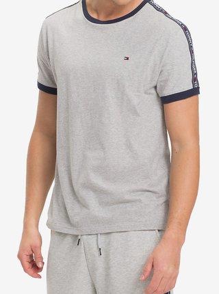 Tommy Hilfiger sivé pánske tričko RN Tee SS