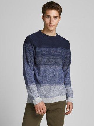 Modrý pruhovaný sveter Jack & Jones Marco