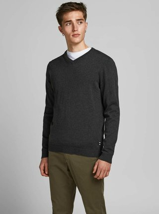 Tmavě šedý basic svetr Jack & Jones Basic