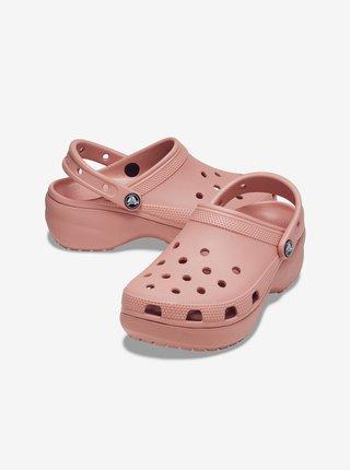 Crocs púdrové topánky Classic Platform Clog W Pale Blush