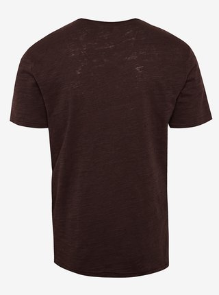Vínové melírované tričko ONLY & SONS Albert