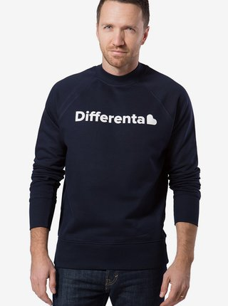 Differenta Design modrá pánska mikina Differenta Heart