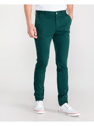 Voľnočasové nohavice pre mužov Armani Exchange - zelená