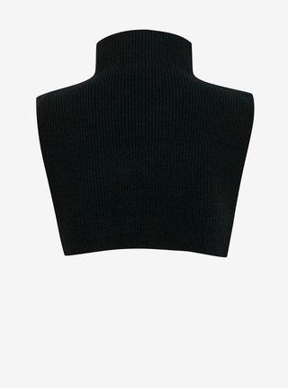 Čierny dámsky nákrčník so zipsom ICHI