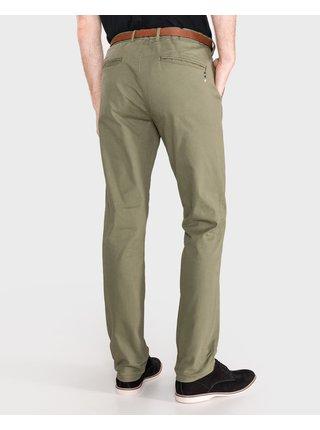 Voľnočasové nohavice pre mužov Scotch & Soda - zelená