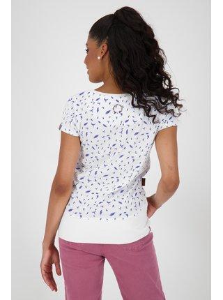 Biele dámské vzorované tričko Alife and Kickin