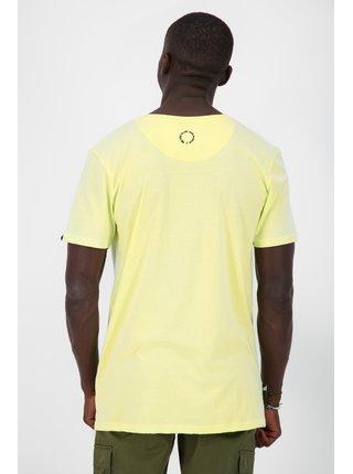Žlté pánske tričko s potlačou Alife and Kickin