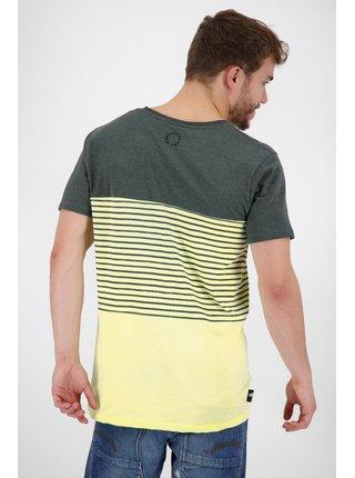 Žluto-zelené pánské vzorované tričko Alife and Kickin