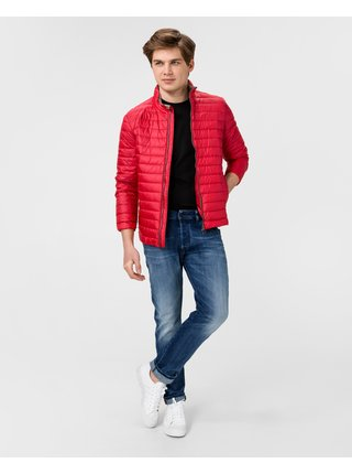 Zimné bundy pre mužov Geox - červená