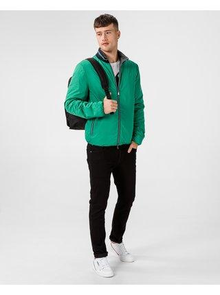 Ľahké bundy pre mužov Geox - zelená, sivá