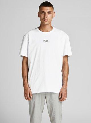 Biele tričko s nápisom Jack & Jones Classic