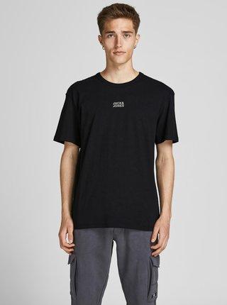Černé tričko s nápisem Jack & Jones Classic