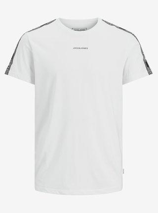 Biele tričko s nápisom Jack & Jones Taping