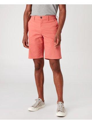 Kraťasy pre mužov Wrangler - červená, oranžová