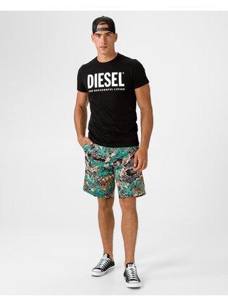 Kraťasy pre mužov Diesel - zlatá, hnedá