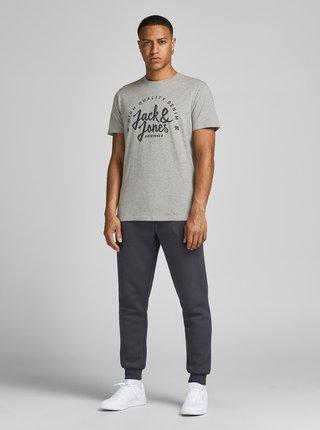 Světle šedé tričko s nápisem Jack & Jones Kimbel