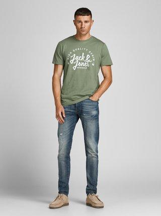 Zelené tričko s nápisem Jack & Jones Kimbel