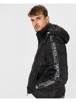 Ľahké bundy pre mužov Armani Exchange - čierna