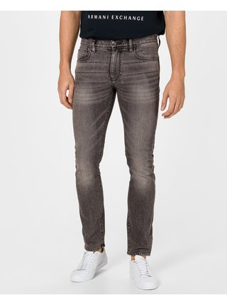 Slim fit pre mužov Armani Exchange - sivá