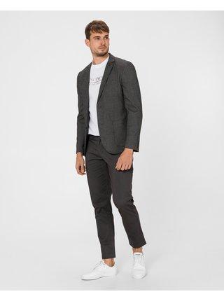 Voľnočasové nohavice pre mužov Armani Exchange - sivá