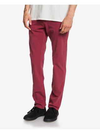 Voľnočasové nohavice pre mužov Quiksilver - červená