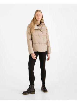 Zimné bundy pre ženy Tommy Hilfiger - béžová