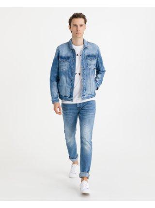 Ľahké bundy pre mužov Salsa Jeans - modrá