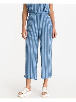 Nohavice pre ženy ICHI - modrá, biela
