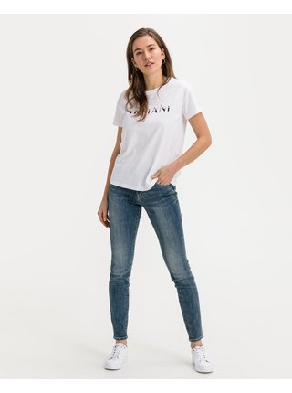 Skinny fit pre ženy Armani Exchange - modrá