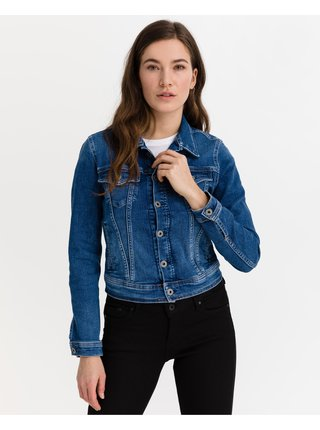 Rifľové bundy pre ženy Pepe Jeans - modrá