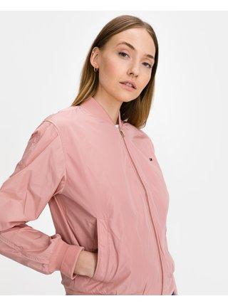 Ľahké bundy pre ženy Tommy Hilfiger - ružová