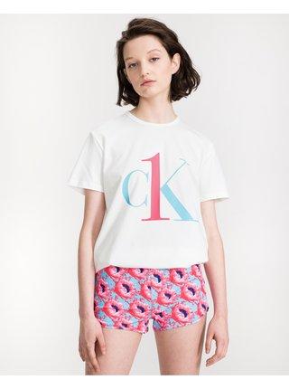 Pyžamká pre ženy Calvin Klein - biela