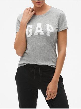 Šedé dámské tričko GAP Logo t-shirt