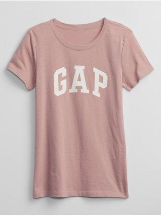 Růžové dámské tričko GAP Logo t-shirt