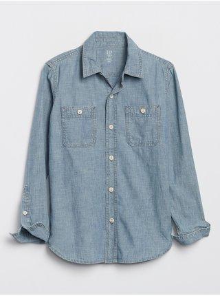 Modrá klučičí košile hambray carpenter shirt